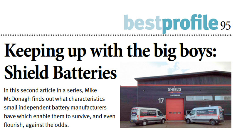 Shield Batteries recognized in an international publication.